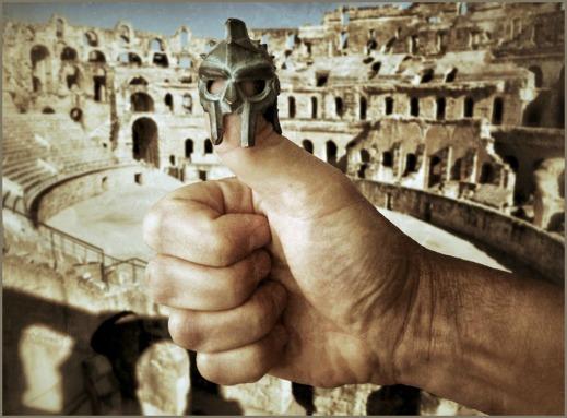 Påvarna möte döden likt gladiatorer