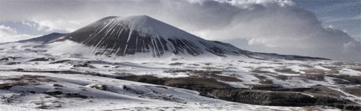 Istäckt vulkan