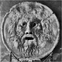 """""""Sanningens mun"""" (La bocca della verità). Här i omodifierad version"""