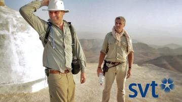 Joachim Vogel & Richard Holmgren i klippstaden Petra