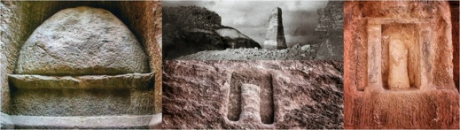 Guden i stenen, fyra exempel på betyler i Petra