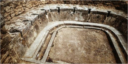 Romersk toalett från staden Dougga i Tunisien. Foto: Richard Holmgren