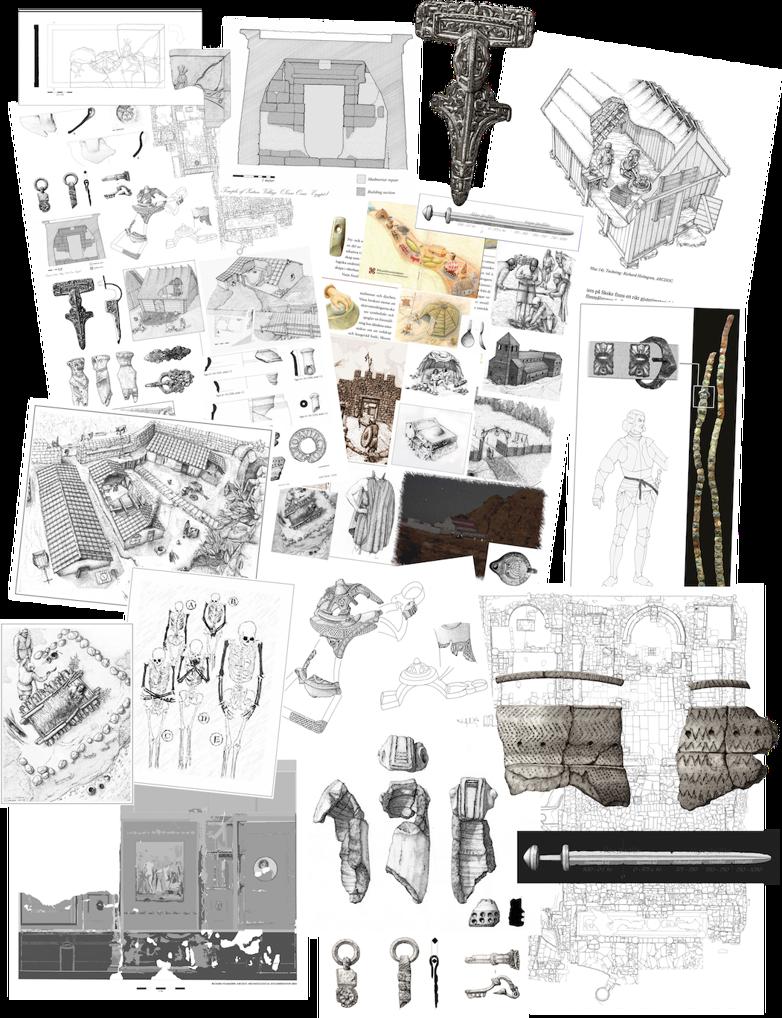 Illustration & teckning arkeologi