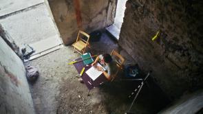 Freskodokumentation, Berit Kaussel arbetar i huset Casa del Torello.