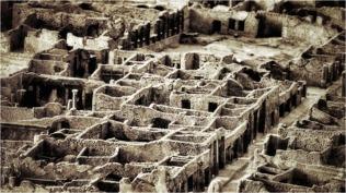 Pompejiprojektets undersökta kvarter (insula 5.1). Foto: Richard Holmgren