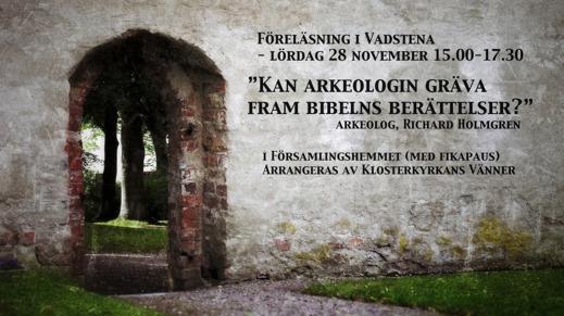 Vadstena - Föreläsning om Biblisk Arkeologi
