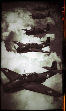 Fem stycken Avenger torpedbombare