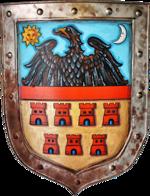 Transsylvaniens vapensköld med de sju saxiska fästningarna
