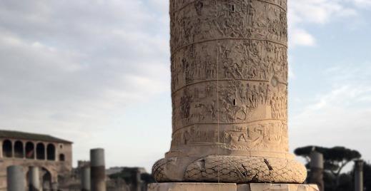 Detalj av Trajanuskolonnen i Rom. Foto: Richard Holmgren