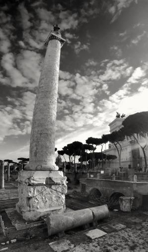 Trajanuskolonnen i sin helhet, Rom