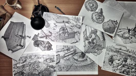 Arkeologiska Illustrationer / ritningar