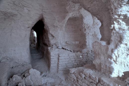 Eremitbostaden och kapellet Qasr at-Tuba. Foto: SDSE