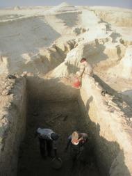 Från utgrävningarna av Dayr al-Qattar-kyrkans norra korsarm. Foto: SDSE
