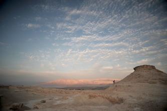 Al-Lisan, ett isolerat landskap och mötesplatsen för ett liv i enkelhet och begrundan. Foto Richard Holmgren