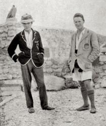 Woolley och Lawrence vid utgrävningarna i Karchemish, ungefär 1913.