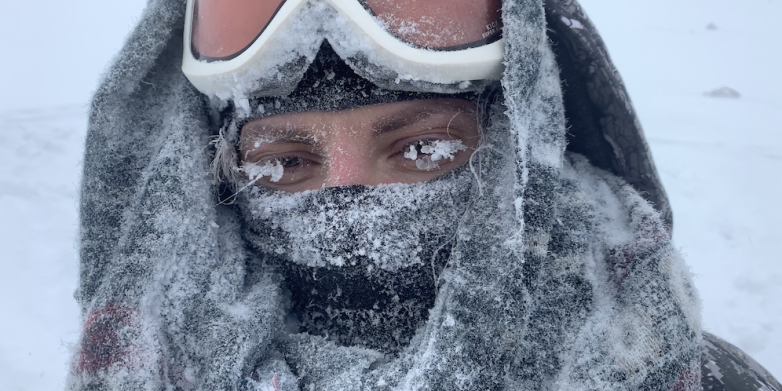 10) The chilling temperatures on the 1st of February 2019, between the Dyatlov pass and Kholat Syakhl. Photo: Richard Holmgren