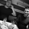 Anderas Liljegren & Artem Domogirov, train to Ivdel
