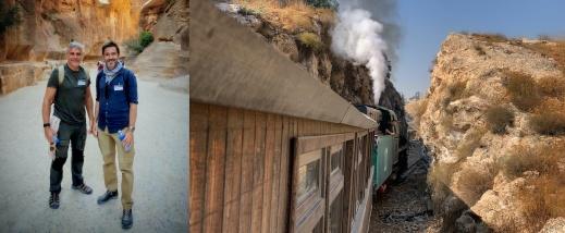 Richard Holmgren & Jacob Wiberg i Petra och samt Hejaz-järnvägen. Foto: A. Hafez / R. Holmgren