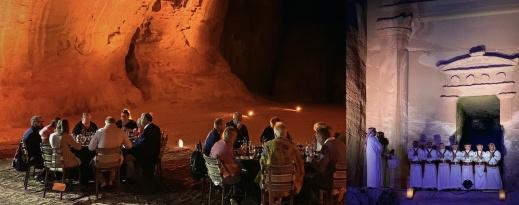 Bonnier Expeditions middag och underhållning i al-Beida (Lilla Petra). Foto: R. Holmgren