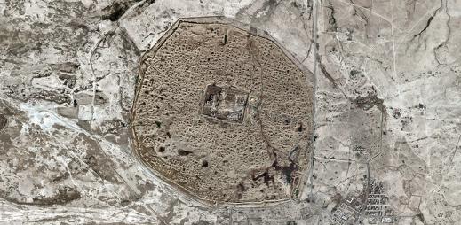 Satellitbild av den antika staden Hatra i Norra Irak. Foto: Apple Maps