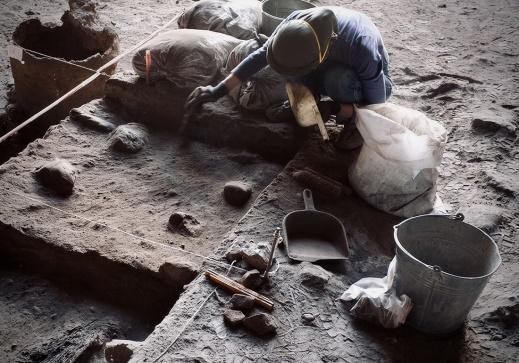 Arkeologisk utgrävning. Foto: Richard Holmgren