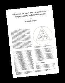 The astragalus bone - religion  gaming and primitive money