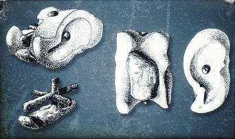 Knucklebone med bly från Ugarit