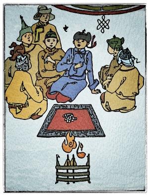 Mongoler kastar tärningsben