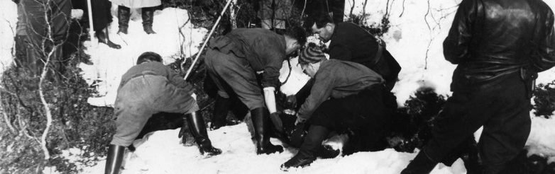 The last four bodies recovered in early May, 1959. Photo: Dyatlov Foundation.