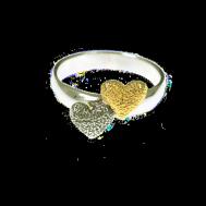 Dubbelhjärta ring OX/Gps