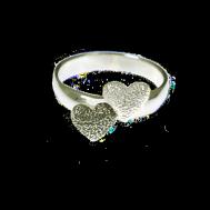 Dubbelhjärta ring V/OX