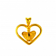 Skyddsängelhjärta 18K