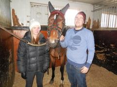 Erika,Erica och skötaren Alexander 131226
