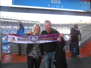 Linda o Anders innan matchen