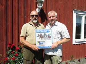 Segertavla från V75-segern på Östersund