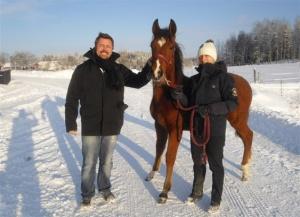 Lars&Maria Töverud vid ett av sina besök på Ekeby