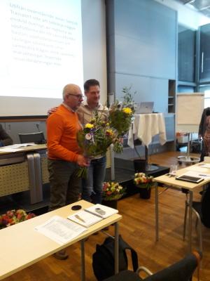 2xHåkan. Karlsson&Persson avtackas efter många år i Avelsföreningens tjänst.