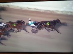 Phoenix Photo med Örjan Kihlström i vagnen vinner Bronsdivisionen på V75. Sundbyholm 210130