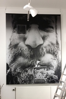 "FACES ""Beard"" Print on Fabric 190x240cm"