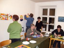 Kurs i akrylmålning.