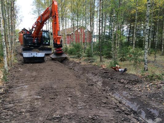 Bild 1:Marcus från Smörkullen och deras specialister återställer en skogspassage.