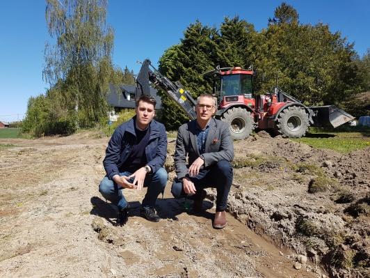 Mikael Larsson och Tobias Leverin i Flakebergsdike
