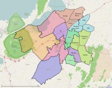 Etappkarta (Etapp 8: söder RV44 ej fastställd)