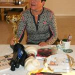 Monica Eklundh med sina vinster.