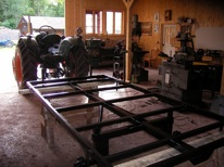 Montering av flak och lämmar samt hjul