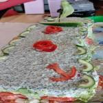 Smörgåstårta med ankare och segel