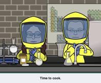 Jill och Susanna experimenterar