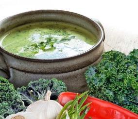 Vegetarisk Soppa styckvis