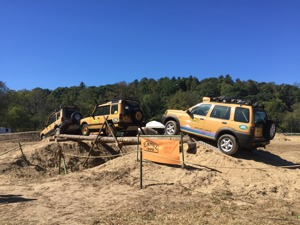 Land Rover offroad driving course, Overland Expo East