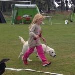 Märta och Melvin vinner barn med hund på Falbygden´s inoff hundutställning 2013